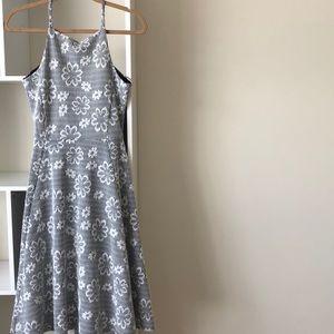 Asos black and white checkered floral midi dress